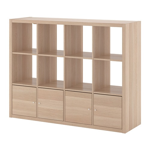 【IKEA/イケア/通販】 KALLAX カラックス シェルフユニット インサート4個付き, ホワイトステインオーク調●(a)(S29278257)