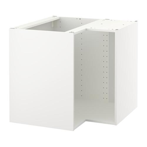 【IKEA/イケア/通販】 METOD コーナーベースキャビネットフレーム, ホワイト(b)(40279793)