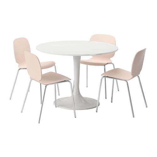 【IKEA/イケア/通販】 DOCKSTA / SVENBERTIL テーブル&チェア4脚, ホワイト, バーチ(b)(79130616)