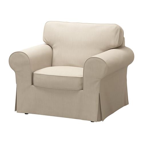 【IKEA/イケア/通販】 EKTORP アームチェア用カバー ノールドヴァッラ ダークベージュ(c)(00317725)