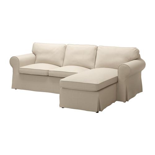 【IKEA/イケア/通販】 EKTORP カバー 2人掛けソファ&寝椅子用, ノールドヴァッラ ダークベージュ(c)(20317734)
