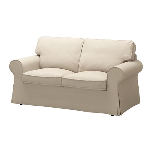 【IKEA/イケア/通販】 EKTORP 2人掛け用ソファカバー(b)(※本体は付属しません。カバーのみの商品です), ノールドヴァッラ ダークベージュ(50317737)
