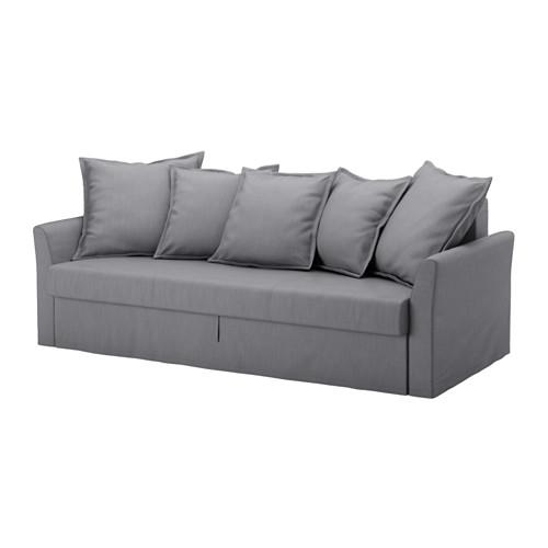 【IKEA/イケア/通販】 HOLMSUND 3人掛けソファベッドカバー(c)(※本体は付属しません。カバーのみの商品です), ノールドヴァッラ ミディアムグレー(90321370)