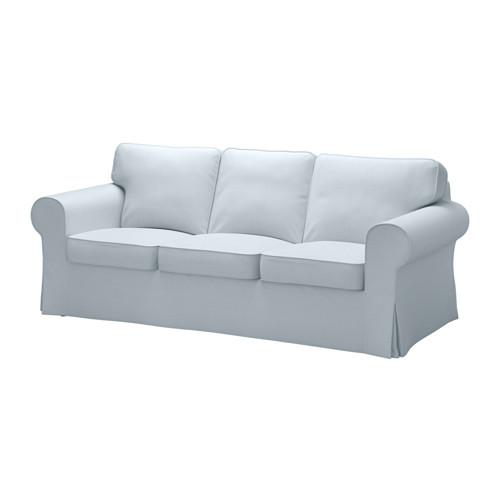 【IKEA/イケア/通販】 EKTORP 3人掛け用ソファカバー(b)(※本体は付属しません。カバーのみの商品です), ノールドヴァッラ ライトブルー(20317767)