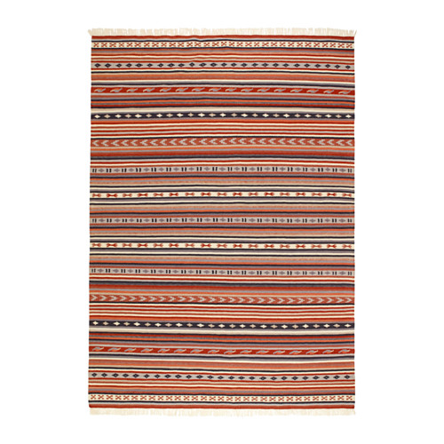 【IKEA/イケア/通販】 KATTRUP ラグ 平織り, 手織り レッドブラウン(d)(10334036)