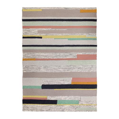 【IKEA/イケア/通販】 BRÖNDEN ラグ パイル短, 手織り マルチカラー(a)(00374565)