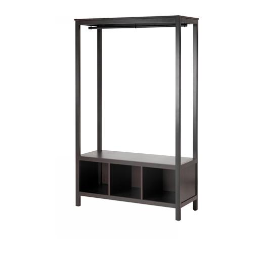 【IKEA/イケア/通販】 HEMNES オープンワードローブ, ブラックブラウン(c)(00381410)