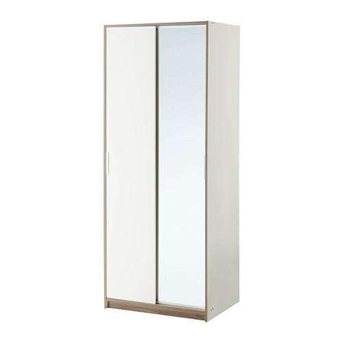 【IKEA/イケア/通販】 TRYSIL ワードローブ, ホワイト, ミラーガラス(b)(20358475)