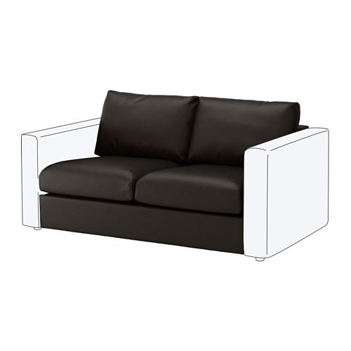 【IKEA/イケア/通販】 VIMLE 2人掛けソファセクション, ファールスタ ブラック(b)(10353398)