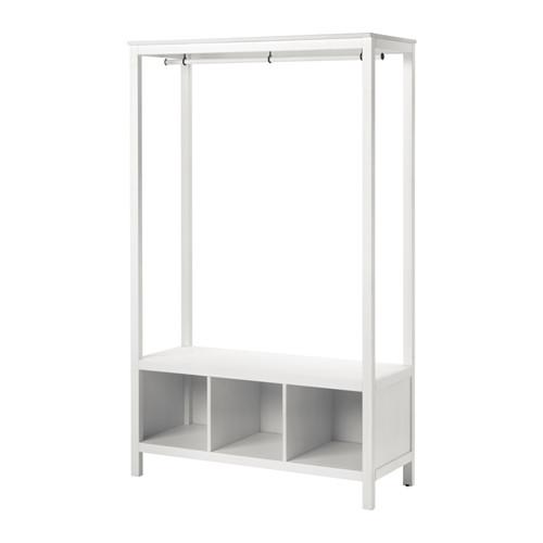 【IKEA/イケア/通販】 HEMNES オープンワードローブ, ホワイトステイン(c)(20379618)