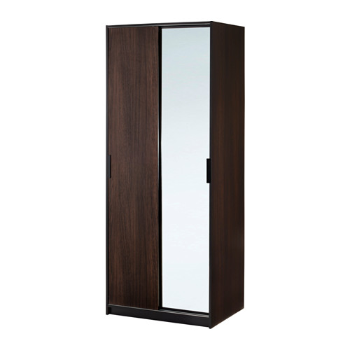 【IKEA/イケア/通販】 TRYSIL ワードローブ, ダークブラウン, ミラーガラス(a)(40358455)