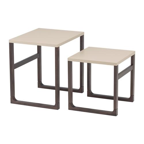 【IKEA/イケア/通販】 RISSNA ネストテーブル2点セット, ベージュ(d)(30353076)