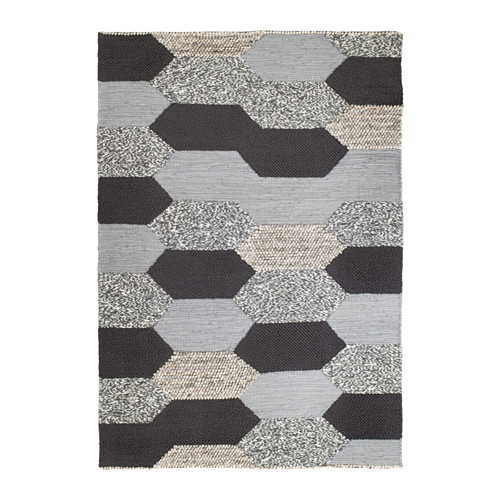 【IKEA/イケア/通販】 KOLLUND ラグ 平織り, 手織り グレー(a)(40374568)
