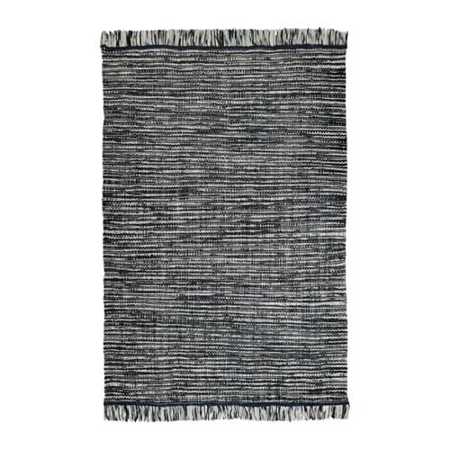 【IKEA/イケア/通販】 KÖPENHAMN ラグ 平織り, 手織り ダークグレー(a)(30374559)