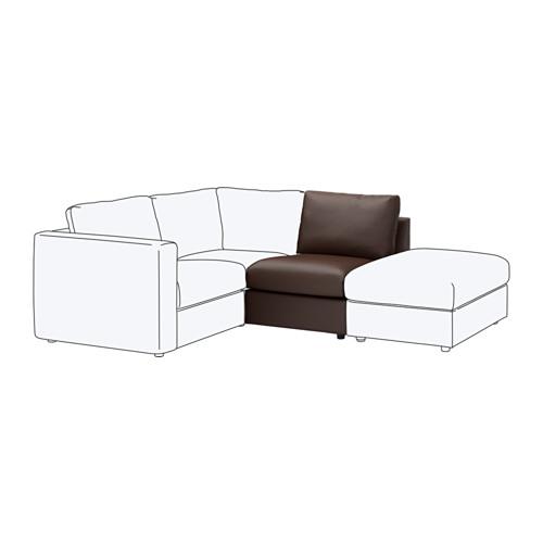 【IKEA/イケア/通販】 VIMLE 1人掛けソファセクション, ファールスタ ダークブラウン(c)(60353414)