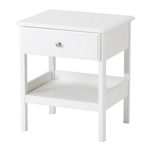 【IKEA/イケア/通販】 TYSSEDAL ベッドサイドテーブル, ホワイト(d)(60357474)