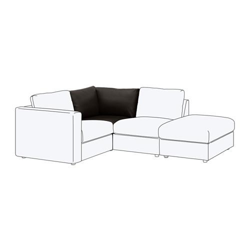 【IKEA/イケア/通販】 VIMLE コーナーセクション, ファールスタ ブラック(b)(70353404)