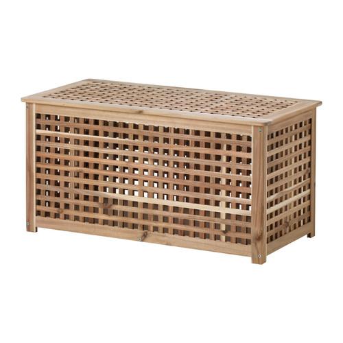 【IKEA/イケア/通販】 HOL 収納テーブル, アカシア材(d)(70353022)