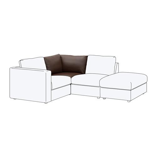 【IKEA/イケア/通販】 VIMLE コーナーセクション, ファールスタ ダークブラウン(b)(90353417)