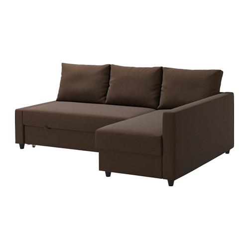 【IKEA/イケア/通販】 FRIHETEN コーナーソファベッド 収納付き, スキフテボー ブラウン(a)(S09216703)