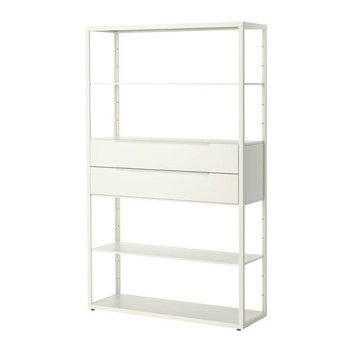 【IKEA/イケア/通販】 FJÄLKINGE シェルフユニット 引き出し付き, ホワイト(b)(S09254974)