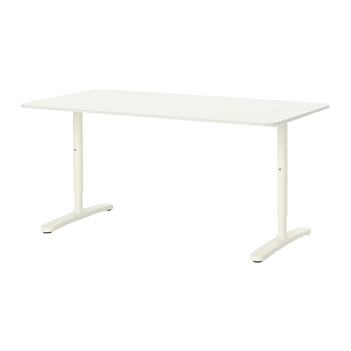 【IKEA/イケア/通販】 BEKANT デスク, ホワイト(a)(S09222563)