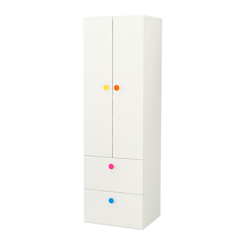 【IKEA/イケア/通販】 STUVA / FÖLJA ワードローブ 扉2枚+引き出し2段付, ホワイト(a)(S09222092)