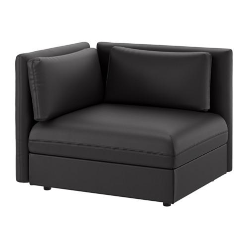 【IKEA/イケア/通販】 VALLENTUNA シートモジュール 背もたれ付き, ムールム ブラック(b)(S09149474)
