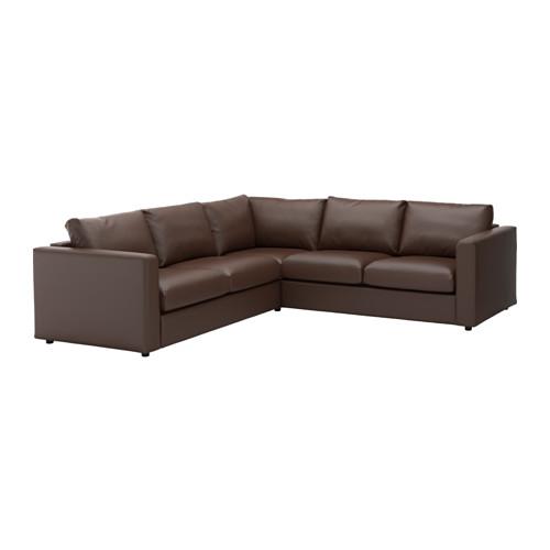 【IKEA/イケア/通販】 VIMLE コーナーソファ、4人掛け, ファールスタ ダークブラウン(c)(S19211371)