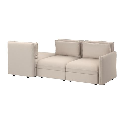 【IKEA/イケア/通販】 VALLENTUNA 3人掛けソファ ベッド付き, オッルスタ ベージュ(a)(S19162356)