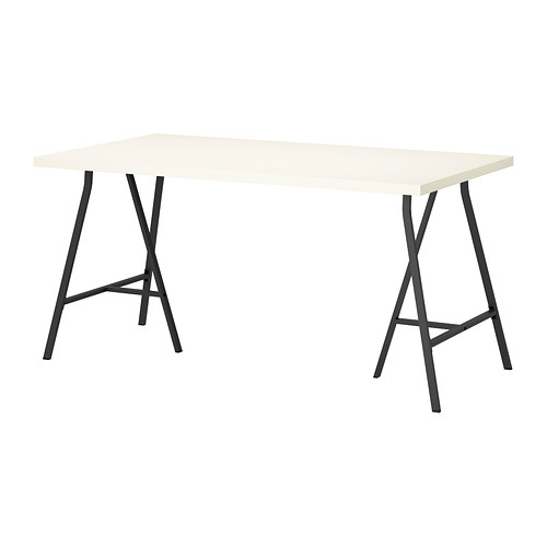 【特選商品】【IKEA/イケア/通販】 LINNMON / LERBERG テーブル, ホワイト, グレー(c)(S19246460)