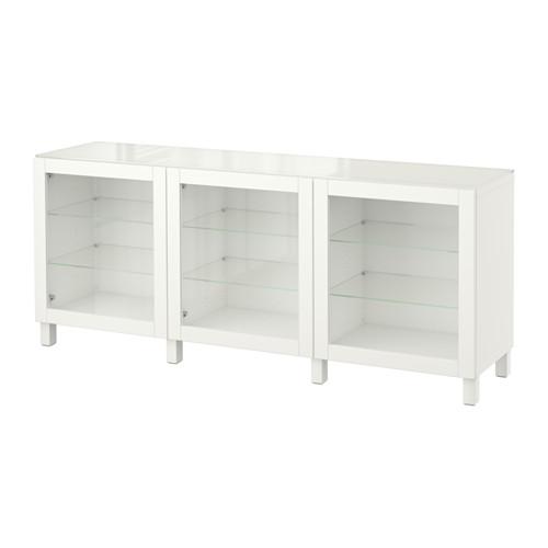 【IKEA/イケア/通販】 BESTÅ 収納コンビネーション 扉付, シンドヴィーク ホワイト(a)(S19219391)
