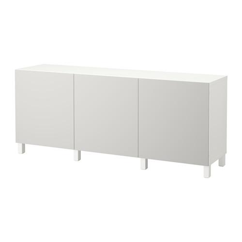 【IKEA/イケア/通販】 BESTÅ 収納コンビネーション 扉付, ホワイト, ラップヴィーケン ライトグレー(a)(S19205902)