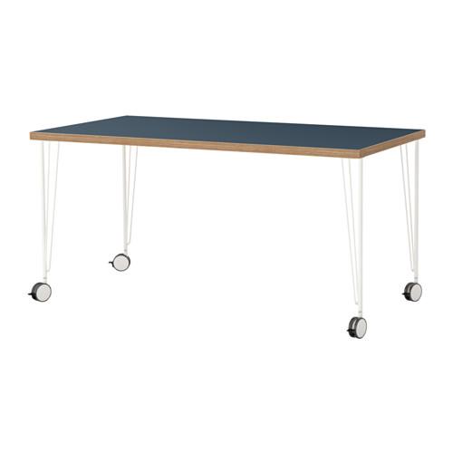 【特選商品】【IKEA/イケア/通販】 LINNMON / KRILLE テーブル, ブルー, ホワイト(a)(S19215699)