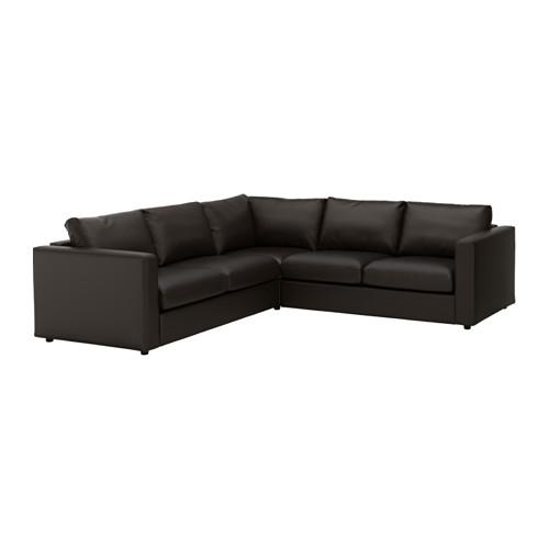 【IKEA/イケア/通販】 VIMLE コーナーソファ、4人掛け, ファールスタ ブラック(c)(S19211366)