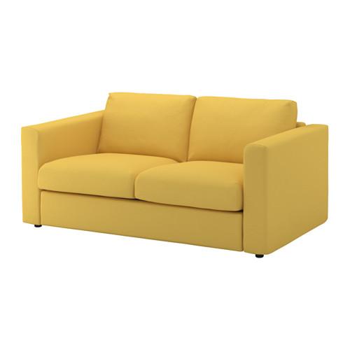 【IKEA/イケア/通販】 VIMLE 2人掛けソファ, オッルスタ ゴールデンイエロー(a)(S19205332)