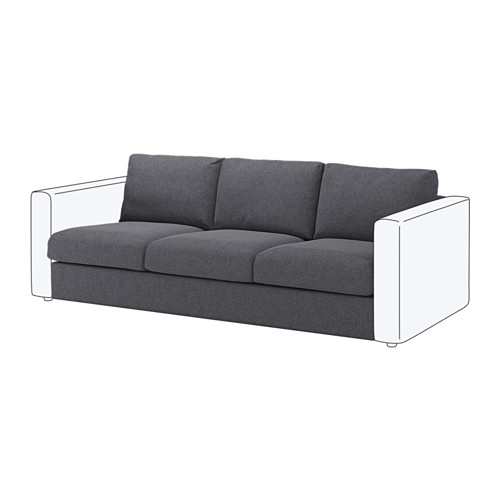 【IKEA/イケア/通販】 VIMLE 3人掛けソファセクション, グンナレド ミディアムグレー(a)(S19219452)