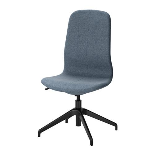 【IKEA/イケア/通販】 LÅNGFJÄLL 回転チェア, グンナレド ブルー, ブラック(a)(S19175113)