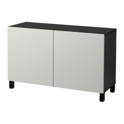 【IKEA/イケア/通販】 BESTÅ 収納コンビネーション 扉付, ブラックブラウン, ラップヴィーケン ライトグレー(a)(S29208014)