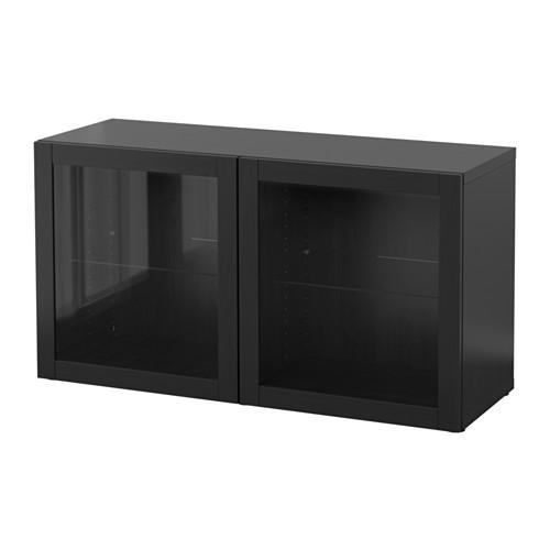 【IKEA/イケア/通販】 BESTÅ シェルフユニット ガラス扉付, シンドヴィーク ブラックブラウン(b)(S29047667)
