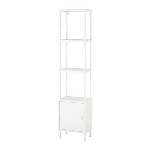 【IKEA/イケア/通販】 DYNAN シェルフユニット キャビネット付き, ホワイト(a)(S29183400)