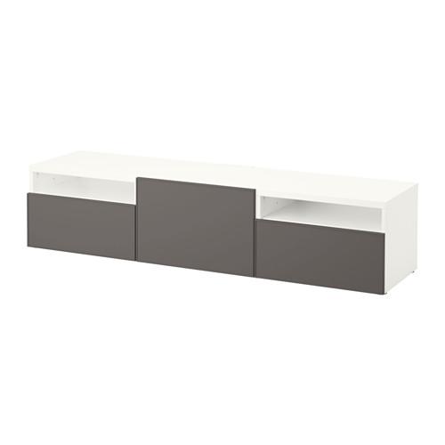 【IKEA/イケア/通販】 BESTÅ テレビ台, ホワイト, グルンドスヴィーケン ダークグレー(a)(S29198307)