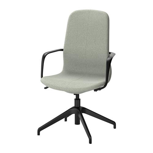 【IKEA/イケア/通販】 LÅNGFJÄLL 回転チェア, グンナレド ライトグリーン, ブラック(a)(S29176485)