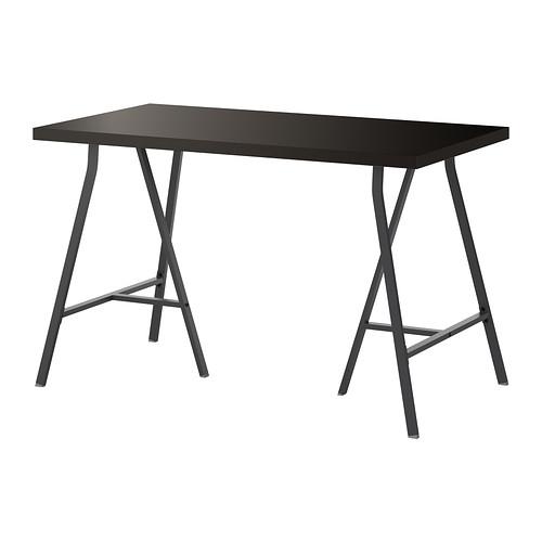 【特選商品】【IKEA/イケア/通販】 LINNMON / LERBERG テーブル, ブラックブラウン, グレー(d)(S39246416)