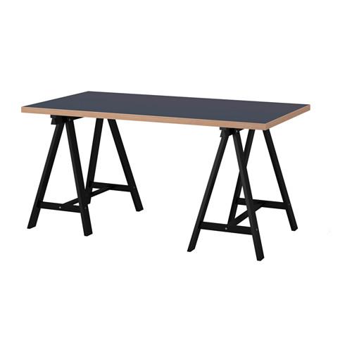 【特選商品】【IKEA/イケア/通販】 LINNMON / ODDVALD テーブル, ブルー, ブラック(c)(S39216669)