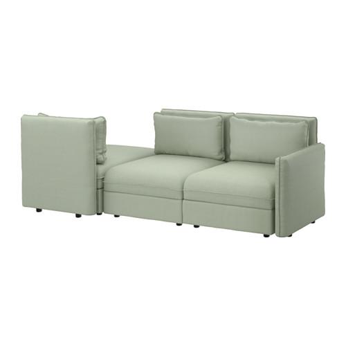 【IKEA/イケア/通販】 VALLENTUNA 3人掛けソファ ベッド付き, ヒッラレド グリーン(S39162586)