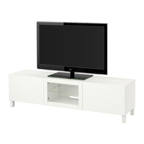 【IKEA/イケア/通販】 BESTÅ テレビ台 引き出し&扉付き, ラップヴィーケン ホワイトクリアガラス(a)(S39185700)