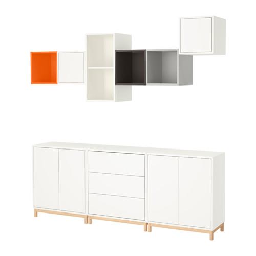 【IKEA/イケア/通販】 EKET キャビネットコンビネーション 脚付き, マルチカラー(a)(S49191036)