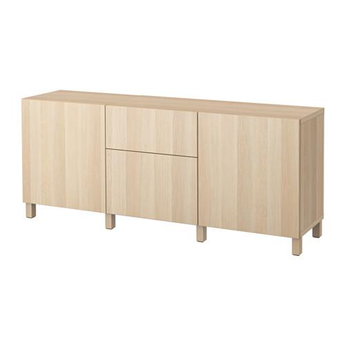 【IKEA/イケア/通販】 BESTÅ 収納コンビネーション 引き出し付, ラップヴィーケン ホワイトステインオーク調(a)(S49187355)