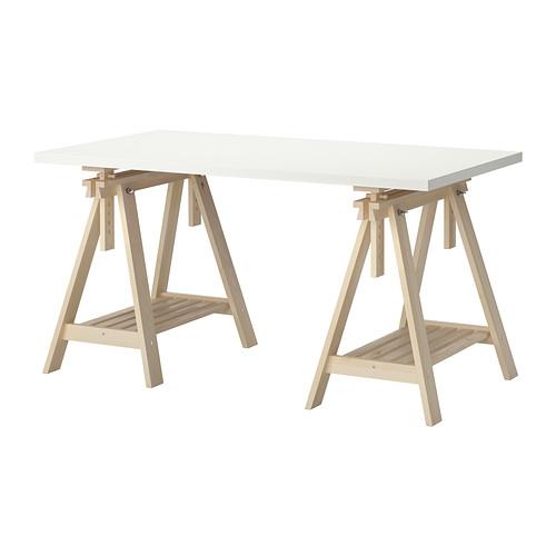 【特選商品】【IKEA/イケア/通販】 LINNMON / FINNVARD テーブル, ホワイト, バーチ(c)(S49246406)